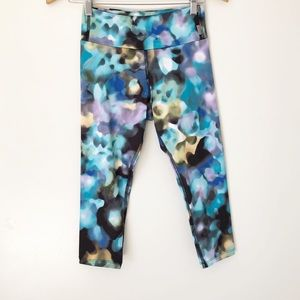 Pants - Multicolored faded design cropped leggings S